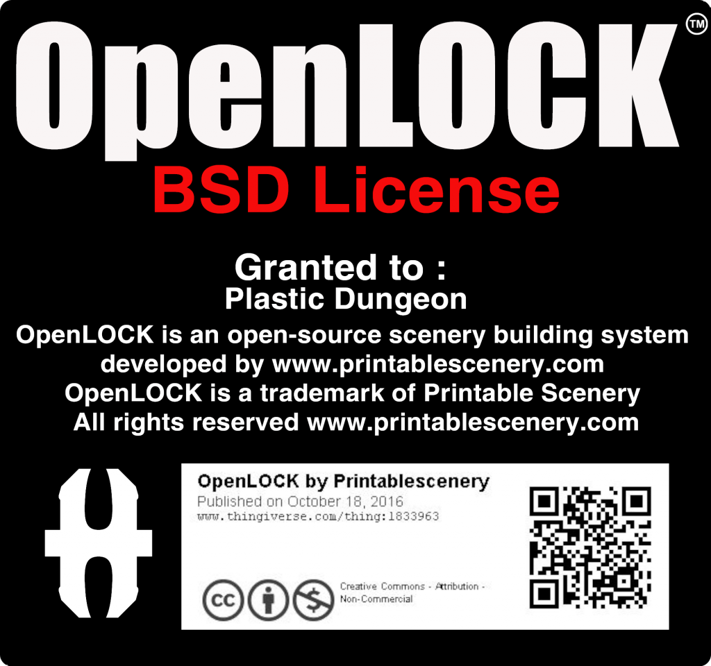 OpenLOCK BSD License Granted to: Plastic Dungeon